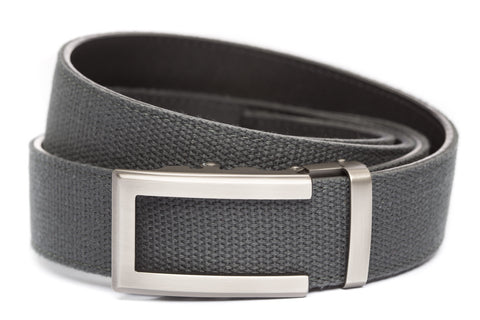 1-5-quot-traditional-buckle-in-gunmetal 1-5-quot-graphite-canvas-strap