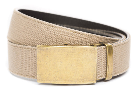 1-5-quot-classic-buckle-in-antiqued-gold 1-5-quot-khaki-canvas-strap