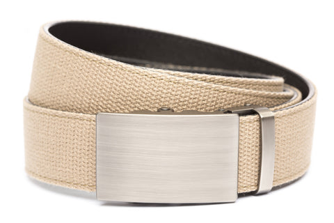 1-5-quot-classic-buckle-in-gunmetal 1-5-quot-khaki-canvas-strap