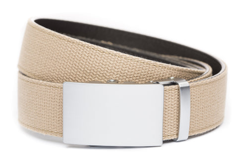 1-5-quot-classic-buckle-in-silver 1-5-quot-khaki-canvas-strap