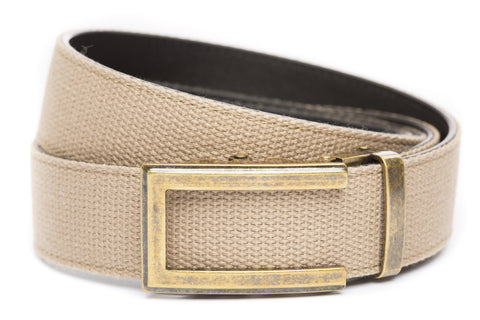 1-5-quot-traditional-buckle-in-antiqued-gold 1-5-quot-khaki-canvas-strap