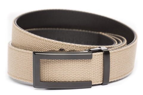 1-5-quot-traditional-buckle-in-black 1-5-quot-khaki-canvas-strap