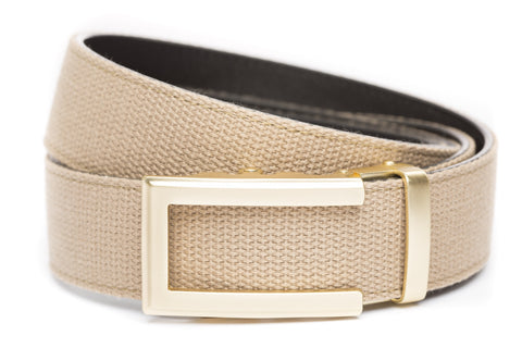 1-5-quot-traditional-buckle-in-gold 1-5-quot-khaki-canvas-strap