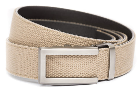 1-5-quot-traditional-buckle-in-gunmetal 1-5-quot-khaki-canvas-strap