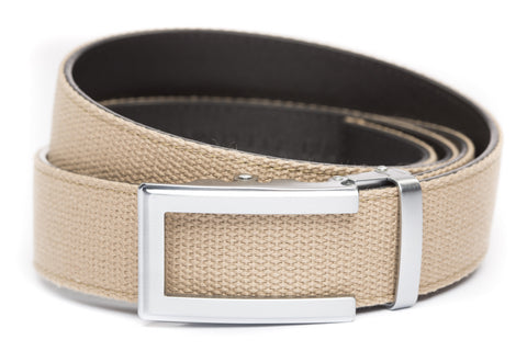 1-5-quot-traditional-buckle-in-silver 1-5-quot-khaki-canvas-strap