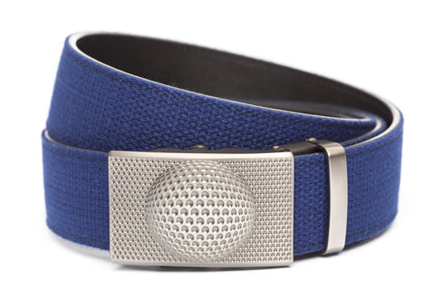 1-5-quot-anson-golf-buckle-in-gunmetal 1-5-quot-navy-canvas-strap