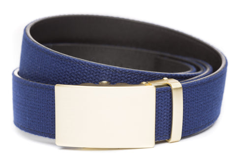 1-5-quot-classic-buckle-in-matte-gold 1-5-quot-navy-canvas-strap