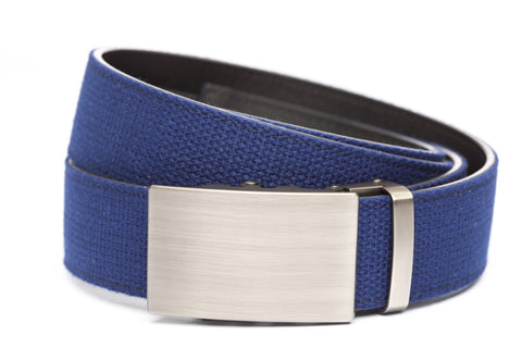 1-5-quot-classic-buckle-in-gunmetal 1-5-quot-navy-canvas-strap