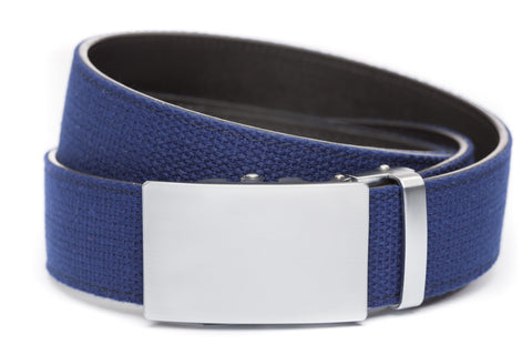 1-5-quot-classic-buckle-in-silver 1-5-quot-navy-canvas-strap
