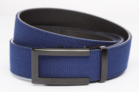 1-5-quot-traditional-buckle-in-black 1-5-quot-navy-canvas-strap