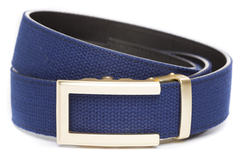 1-5-quot-traditional-buckle-in-gold 1-5-quot-navy-canvas-strap