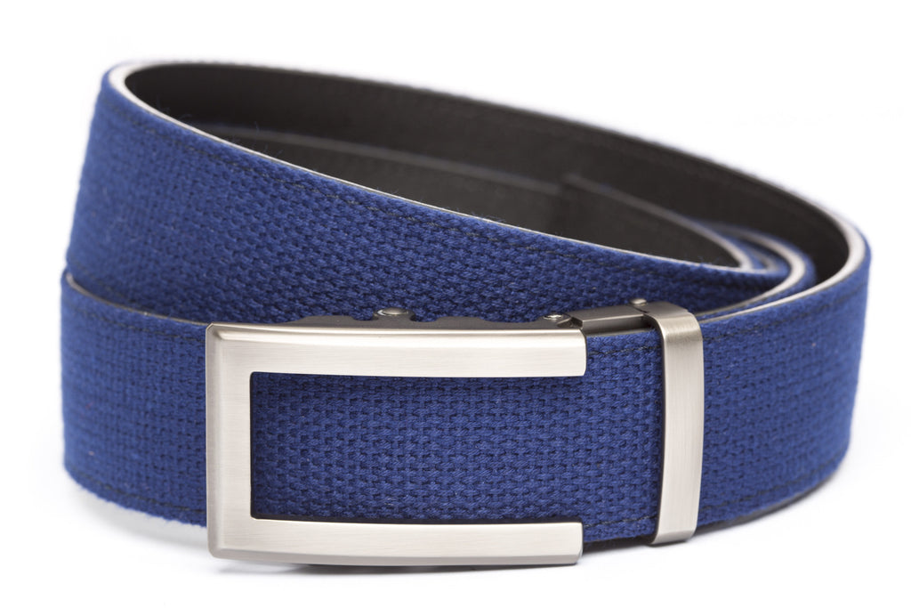 "Navy Canvas w/Traditional in Gunmetal Buckle (1.5"")"
