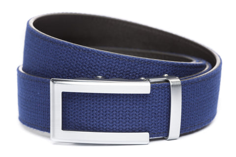 1-5-quot-traditional-buckle-in-silver 1-5-quot-navy-canvas-strap