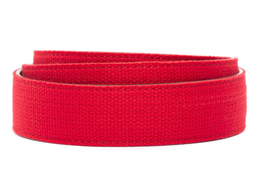 "1.5"" Red Canvas Strap"