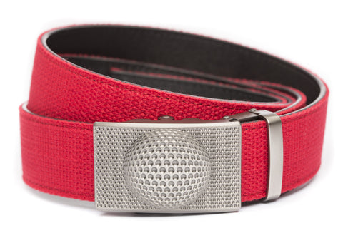 1-5-quot-anson-golf-buckle-in-gunmetal 1-5-quot-red-canvas-strap