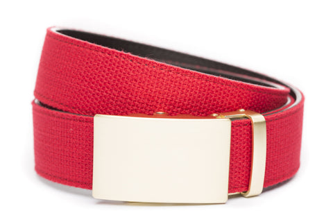 1-5-quot-classic-buckle-in-matte-gold 1-5-quot-red-canvas-strap