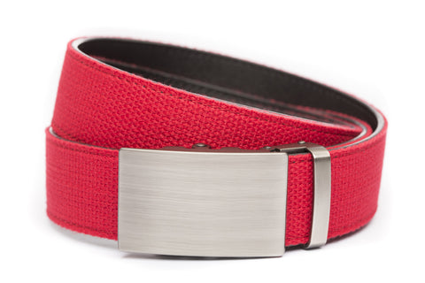 1-5-quot-classic-buckle-in-gunmetal 1-5-quot-red-canvas-strap
