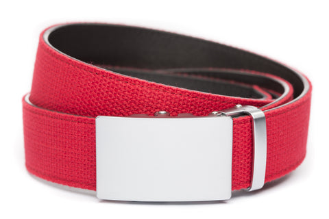 1-5-quot-classic-buckle-in-silver 1-5-quot-red-canvas-strap