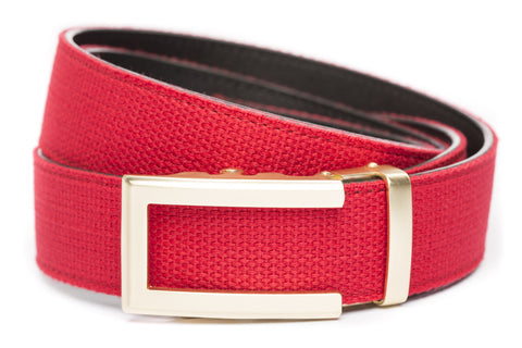 1-5-quot-traditional-buckle-in-gold 1-5-quot-red-canvas-strap