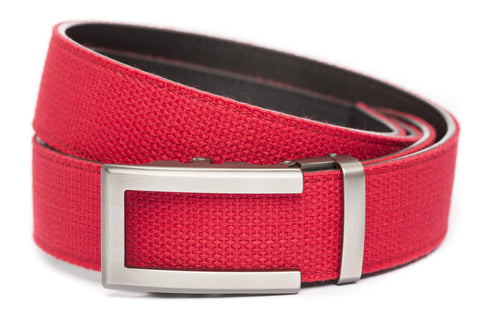 1-5-quot-traditional-buckle-in-gunmetal 1-5-quot-red-canvas-strap