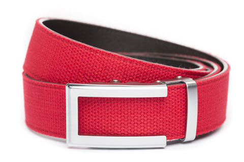 1-5-quot-traditional-buckle-in-silver 1-5-quot-red-canvas-strap