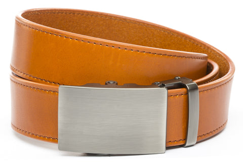 1-5-quot-classic-buckle-in-gunmetal 1-5-saddle-tan-vegetable-tanned-leather