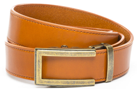 1-5-quot-traditional-buckle-in-antiqued-gold 1-5-saddle-tan-vegetable-tanned-leather