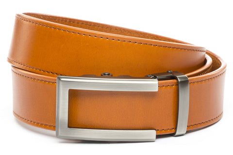 1-5-quot-traditional-buckle-in-gunmetal 1-5-quot-saddle-tan-vegetable-tanned-leather-strap