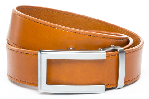 1-5-quot-traditional-buckle-in-silver 1-5-saddle-tan-vegetable-tanned-leather