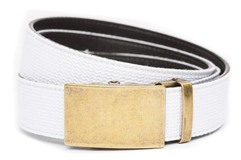 1-5-quot-classic-buckle-in-antiqued-gold 1-5-quot-white-canvas-strap