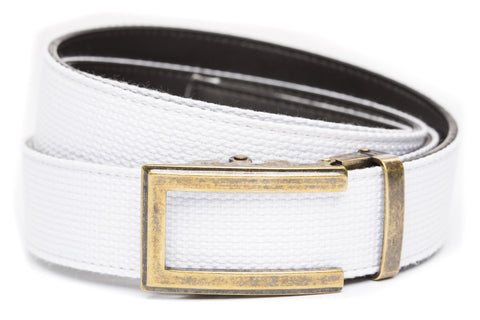 1-5-quot-traditional-buckle-in-antiqued-gold 1-5-quot-white-canvas-strap