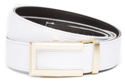 1-5-quot-traditional-buckle-in-gold 1-5-quot-white-canvas-strap
