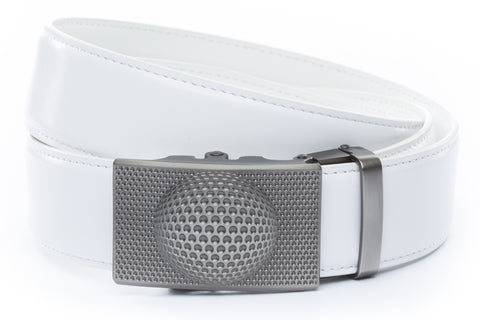 1-5-quot-anson-golf-buckle-in-gunmetal 1-5-quot-white-leather-strap