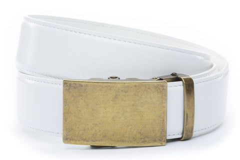 1-5-quot-classic-buckle-in-antiqued-gold 1-5-quot-white-leather-strap