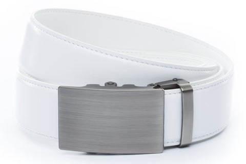 1-5-quot-classic-buckle-in-gunmetal 1-5-quot-white-leather-strap