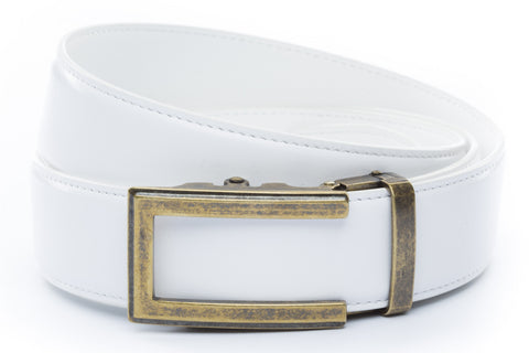 1-5-quot-traditional-buckle-in-antiqued-gold 1-5-quot-white-leather-strap