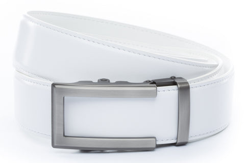 1-5-quot-traditional-buckle-in-gunmetal 1-5-quot-white-leather-strap
