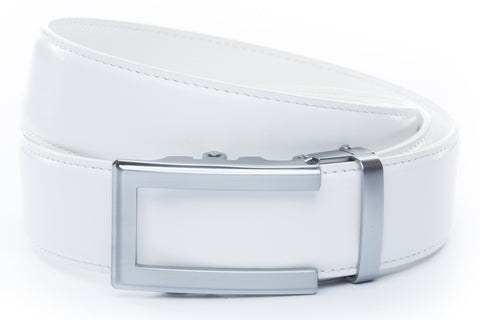 1-5-quot-traditional-buckle-in-silver 1-5-quot-white-leather-strap