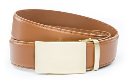 1-5-quot-classic-buckle-in-matte-gold 1-5-quot-saddle-tan-leather-strap