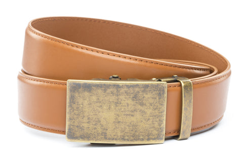 1-5-quot-classic-buckle-in-antiqued-gold 1-5-quot-saddle-tan-leather-strap