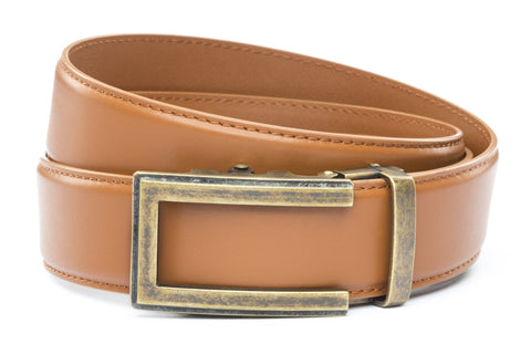 1-5-quot-traditional-buckle-in-antiqued-gold 1-5-quot-saddle-tan-leather-strap