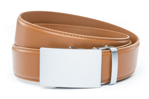 1-5-quot-classic-buckle-in-silver 1-5-quot-saddle-tan-leather-strap