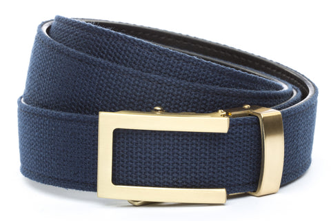 1-25-quot-traditional-buckle-in-gold 1-25-quot-navy-canvas-strap