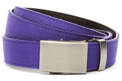 1-25-quot-classic-buckle-in-gunmetal 1-25-quot-purple-canvas-strap