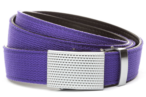 1-25-quot-anson-golf-buckle-in-silver 1-25-quot-purple-canvas-strap