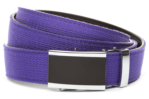 1-25-quot-onyx-buckle 1-25-quot-purple-canvas-strap