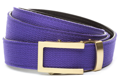 1-25-quot-traditional-buckle-in-gold 1-25-quot-purple-canvas-strap