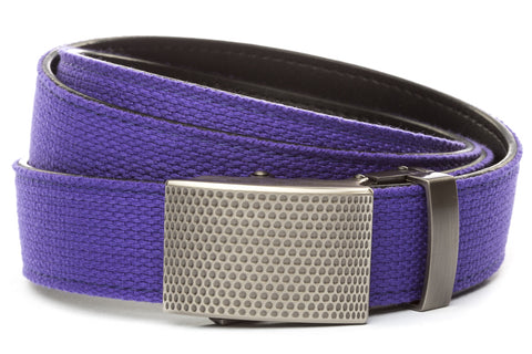 1-25-quot-anson-golf-buckle-in-gunmetal 1-25-quot-purple-canvas-strap