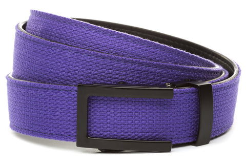 1-25-quot-traditional-buckle-in-black 1-25-quot-purple-canvas-strap