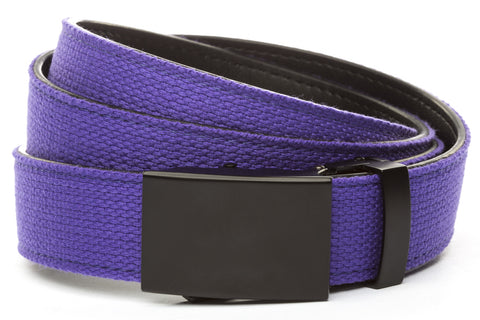 1-25-quot-classic-buckle-in-black 1-25-quot-purple-canvas-strap